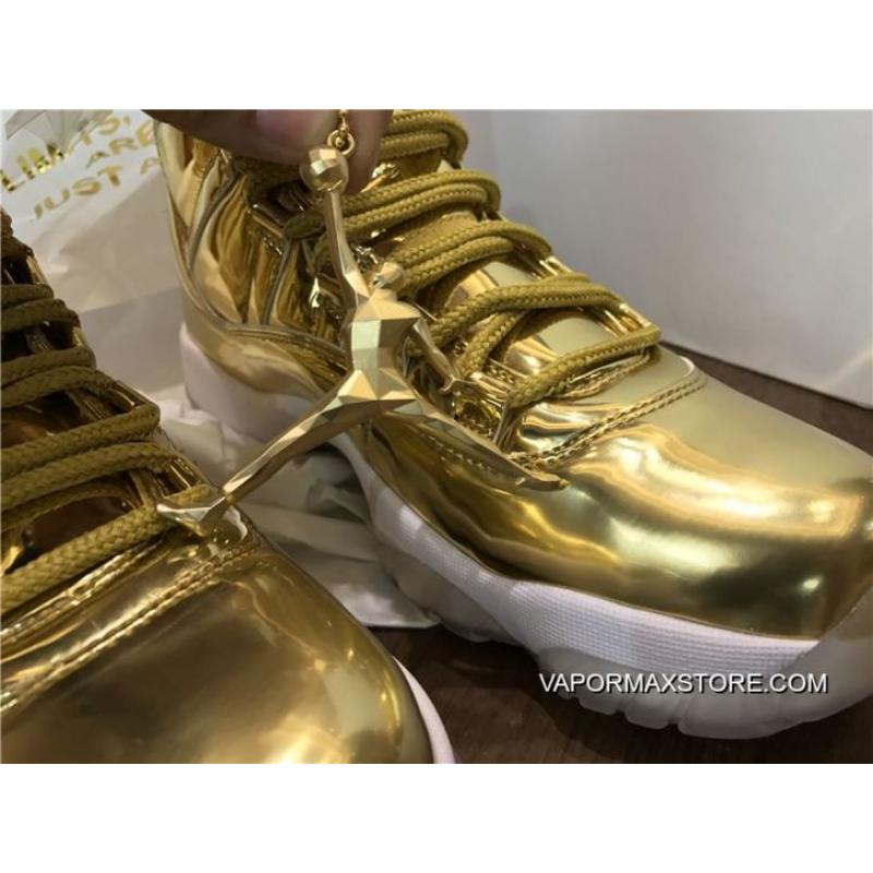 buy popular c2125 f1ca4 Air Jordan 11 Pinnacle Metallic Gold/White Kawhi Leonard Basketball Shoes  Latest