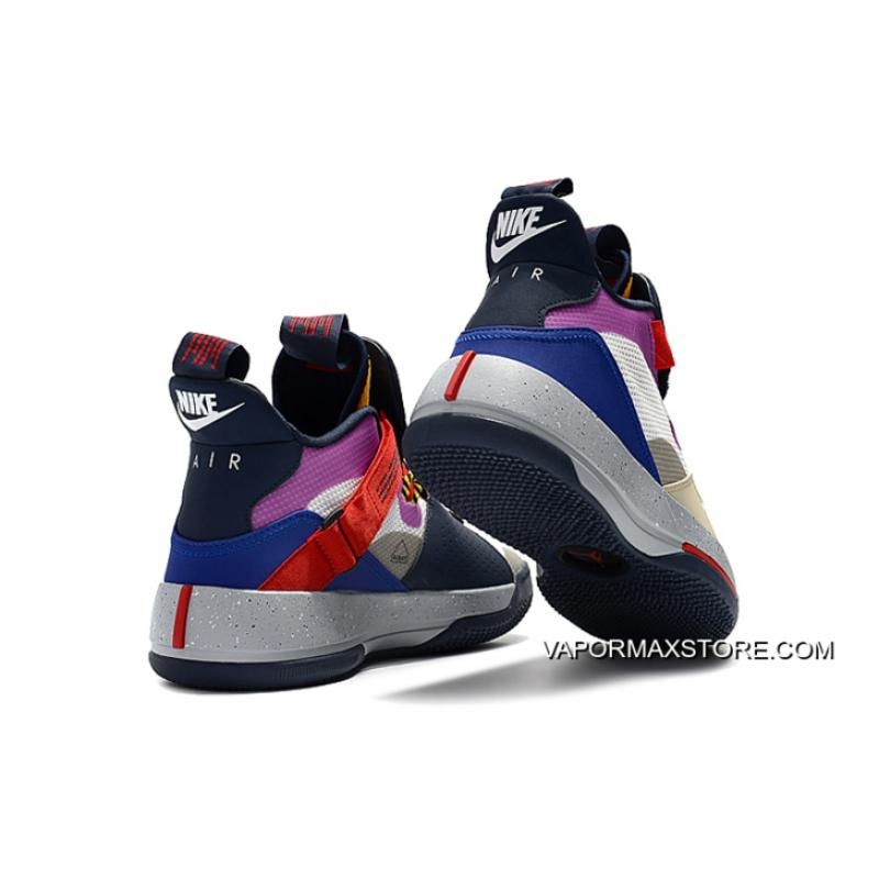 """063daf3a9919 ... Air Jordan 33 """"Visible Utility"""" Yellow Pink-Red Where To Buy ..."""