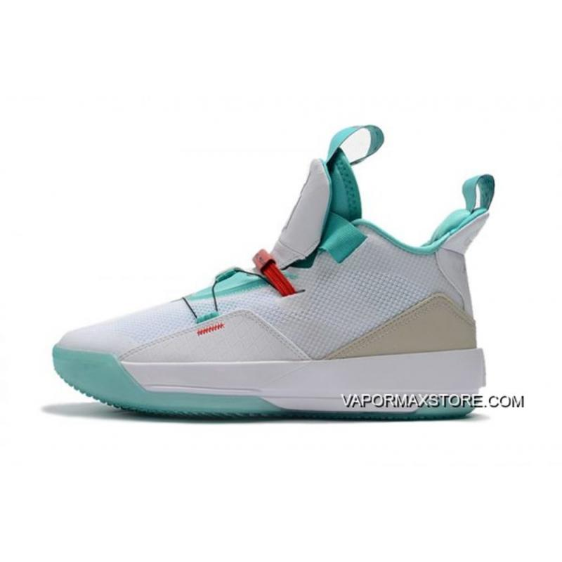 "e0eec41bae9 Best Air Jordan 33 ""Guo Ailun"" PE White/Jade-Red AQ8830-101, Price ..."