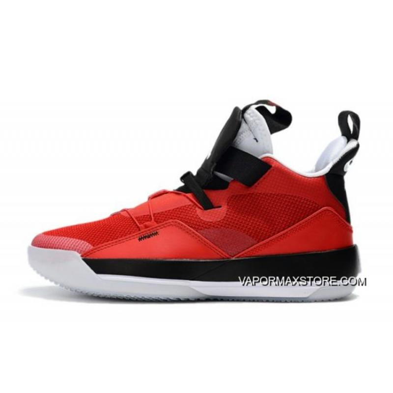 "4c3d9369233 Air Jordan 33 XXXIII ""CNY"" University Red/Black-White Tax Free ..."