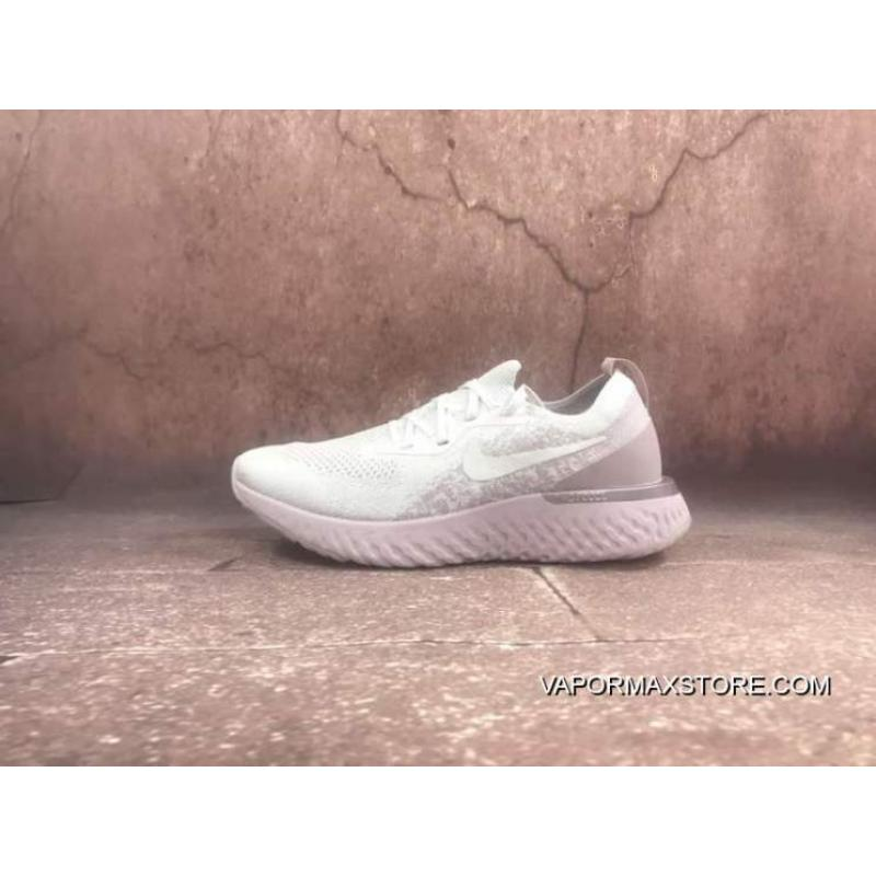 buy online ad512 ef4a7 Best NIKE EPIC REACT FLYKNIT Maria Woven FLYKNIT Casual Sport Running Shoes  Women And Men Running Shoes Pink AQ0067-600