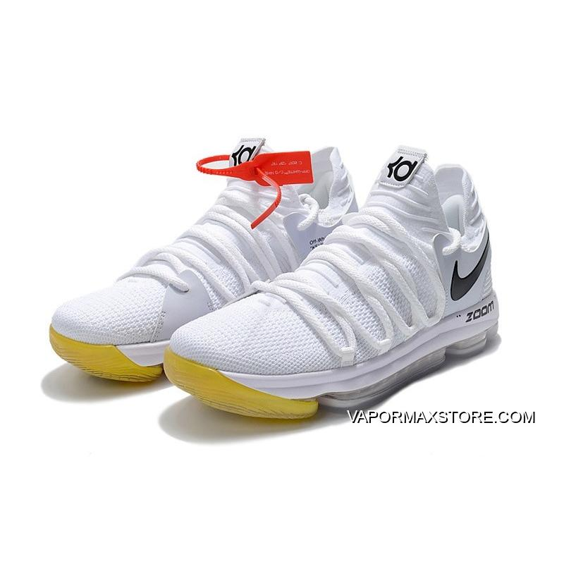 best service bb65c f2cdb get off white x nike kd 10 white black yellow where to buy 32175 83118