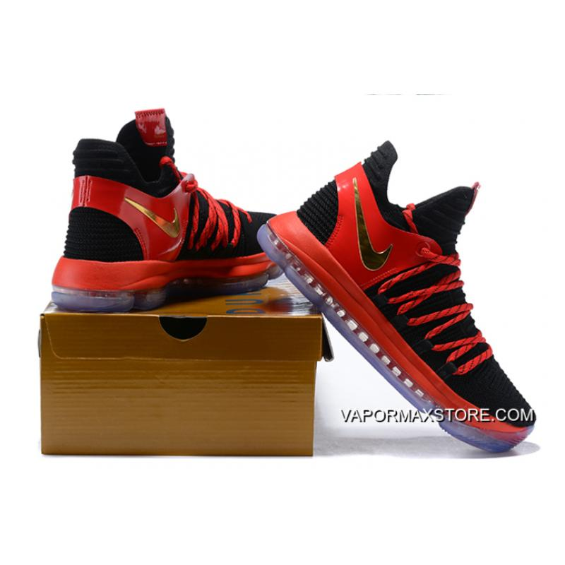 a0728e5525b2 ... Big Deals Nike KD 10 Black University Red-Metallic Gold