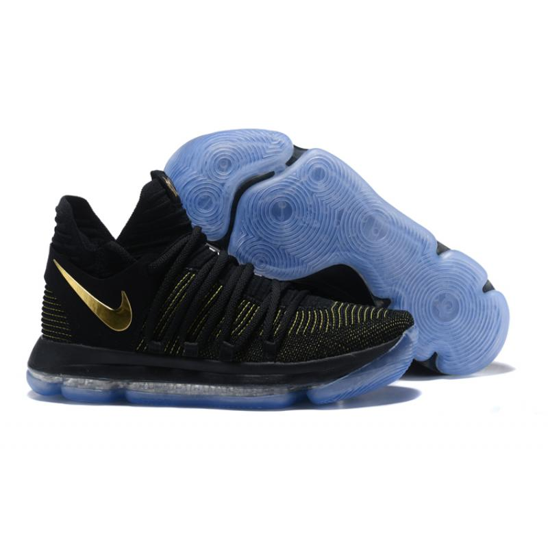 d00f33d9ebb1 New Style Nike KD 10 Black Yellow Gold ...