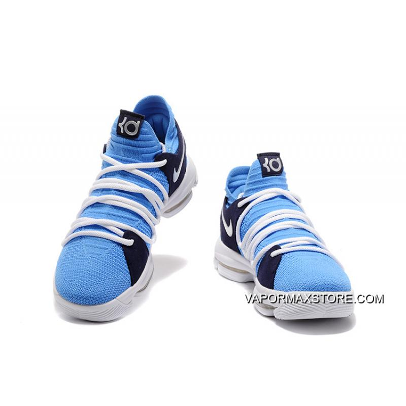 on sale d09c1 4334b italy online nike kd 10 blue white black silver d832c eebb1