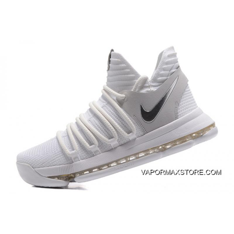 "the latest 99723 12648 ... Online Nike KD 10 ""Still KD"" White Chrome-Pure Platinum ..."