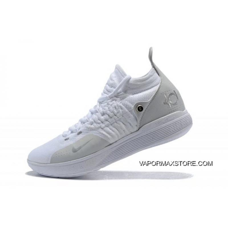 the best attitude 7ae37 0ed9f Big Deals Men s Nike KD 11 White Chrome-Pure Platinum Basketball Shoes ...