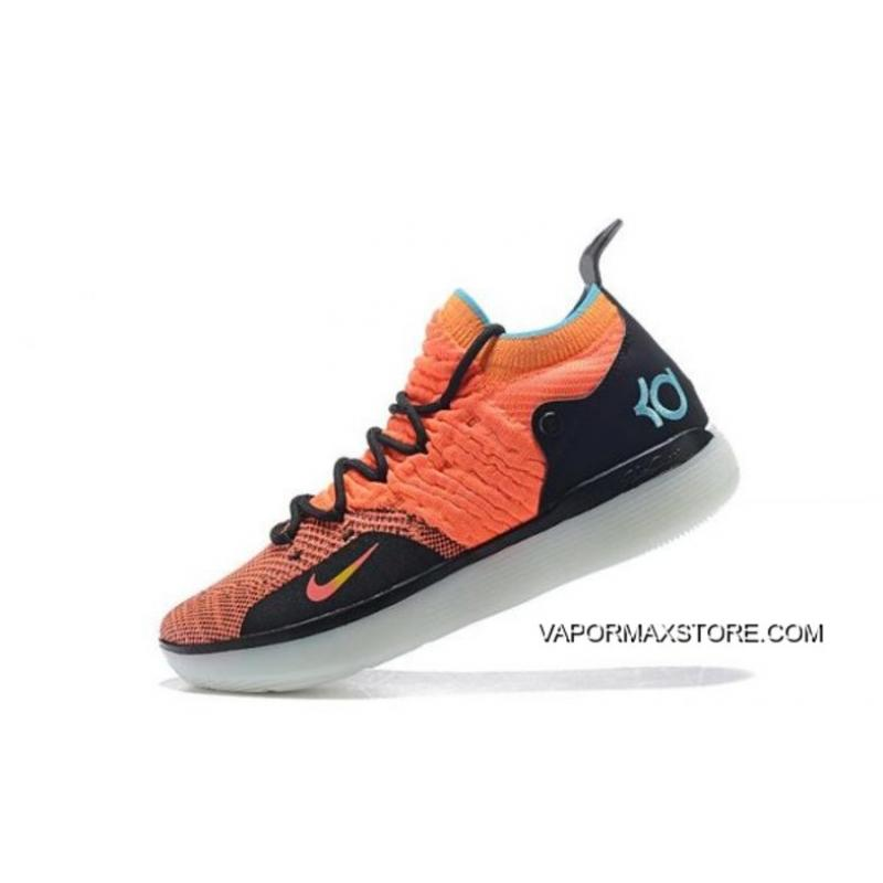 "Nike KD 11 ""The Academy"" OrangeBlack-Teal Free Shipping ..."