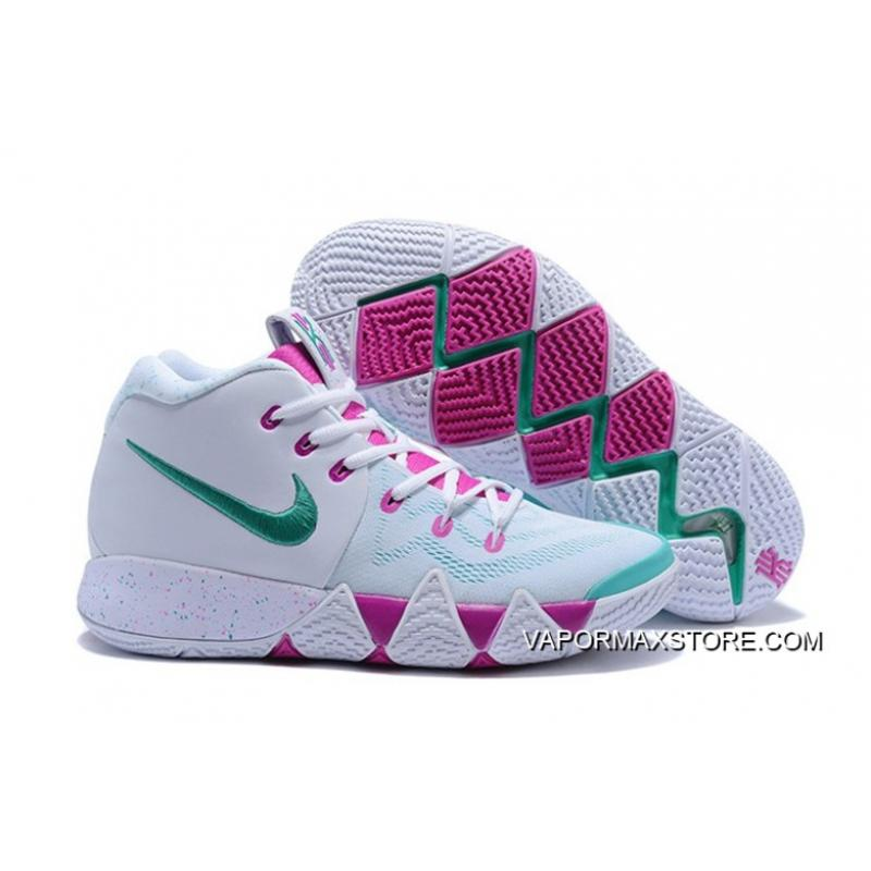 36428679b7a Nike Kyrie 4 White Noble Red-Mint Green Best ...