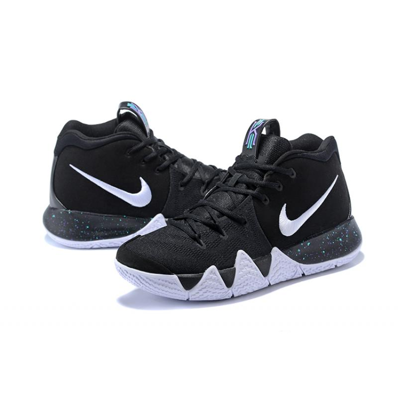 470e1d280a10 ... coupon code for free shipping nike kyrie 4 black white anthracite light  racer blue 9a323 2c6ba