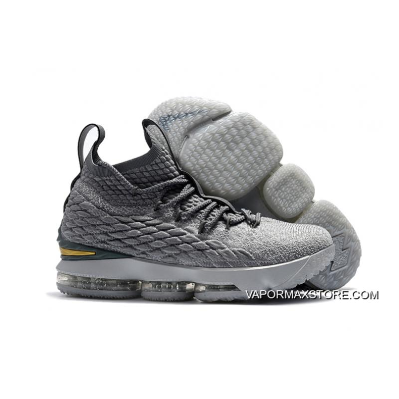 """the best attitude 74a59 9ef51 Nike LeBron 15 """"City Edition"""" Wolf Grey/Metallic Gold-Cool Grey New Year  Deals"""