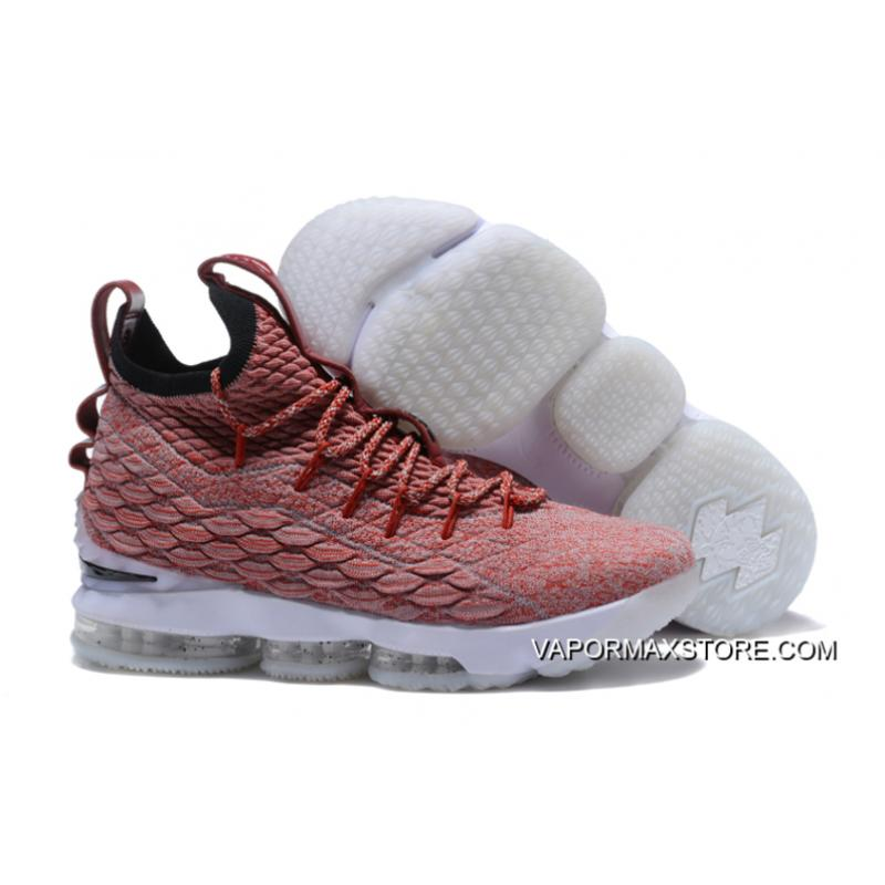 """56aba3d1af80 Nike LeBron 15 """"Wine"""" Red Flyknit White Outlet ..."""
