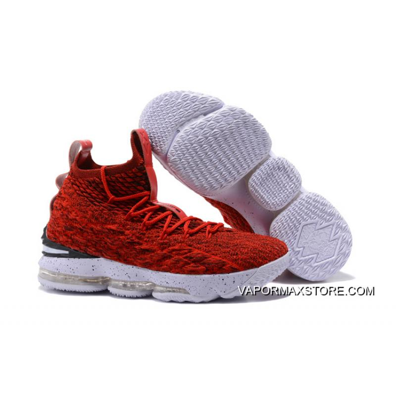 09f42f6d0980 Nike LeBron 15 University Red White-Black For Sale ...