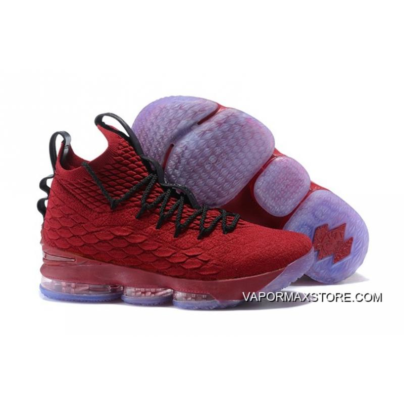 release date 87739 4fb3e Latest Nike LeBron 15 University Red And Black