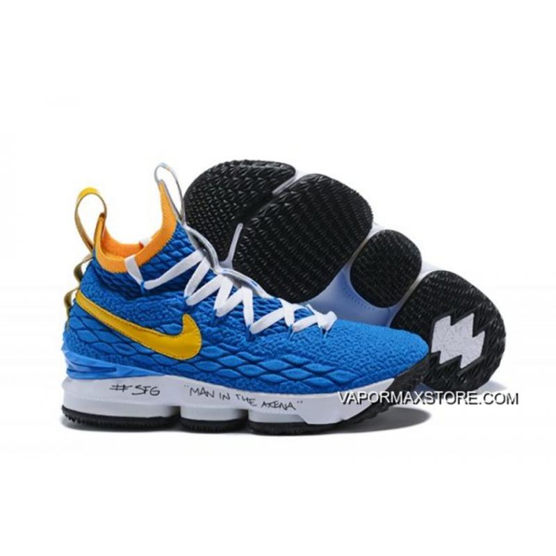 "783b7b14919 For Sale Nike LeBron 15 ""Waffle Trainer"" Blue Yellow ..."