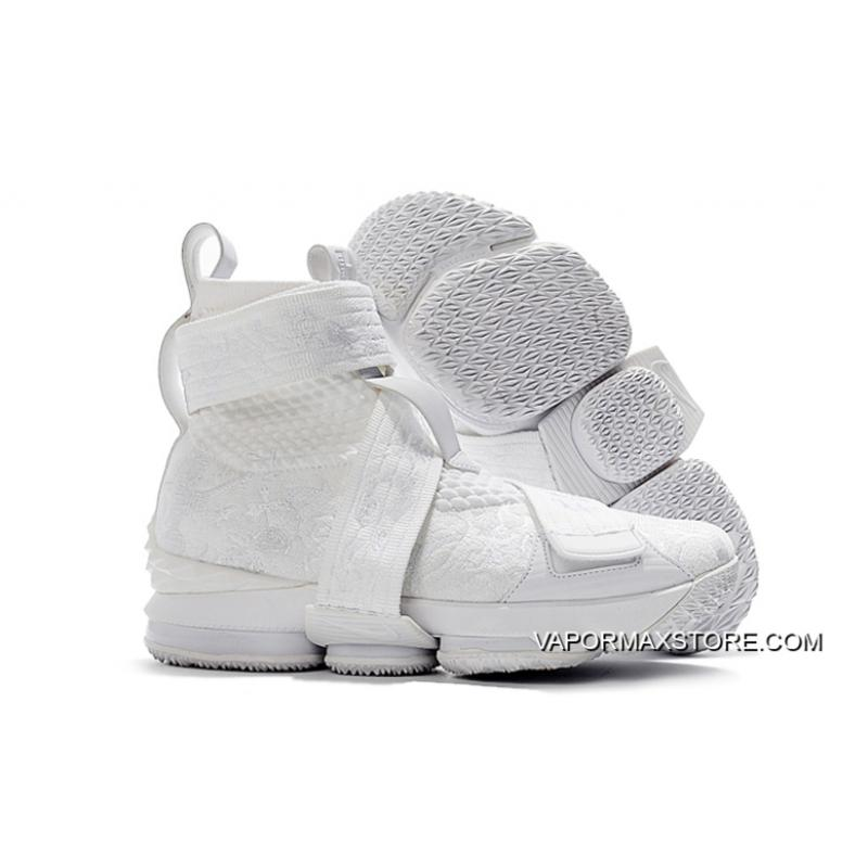 "huge selection of 4be02 3c2d7 KITH X Nike LeBron 15 Lifestyle ""City Of Angels"" Triple White New Release"