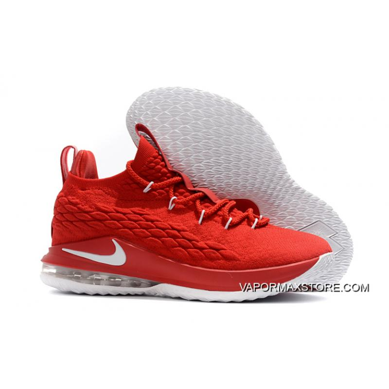 738a9bdf381b ... Best Nike LeBron 15 Low University Red White Men s Basketball Shoes ...