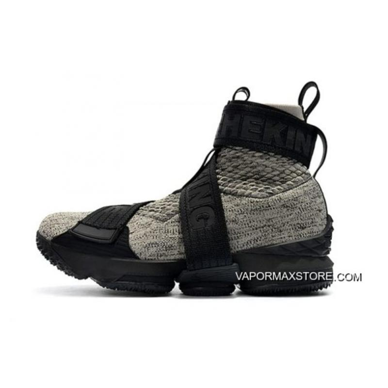 "competitive price 0a9e6 ca220 KITH X Nike LeBron 15 Lifestyle ""Concrete"" Black/Grey Men's Basketball  Shoes Tax Free"