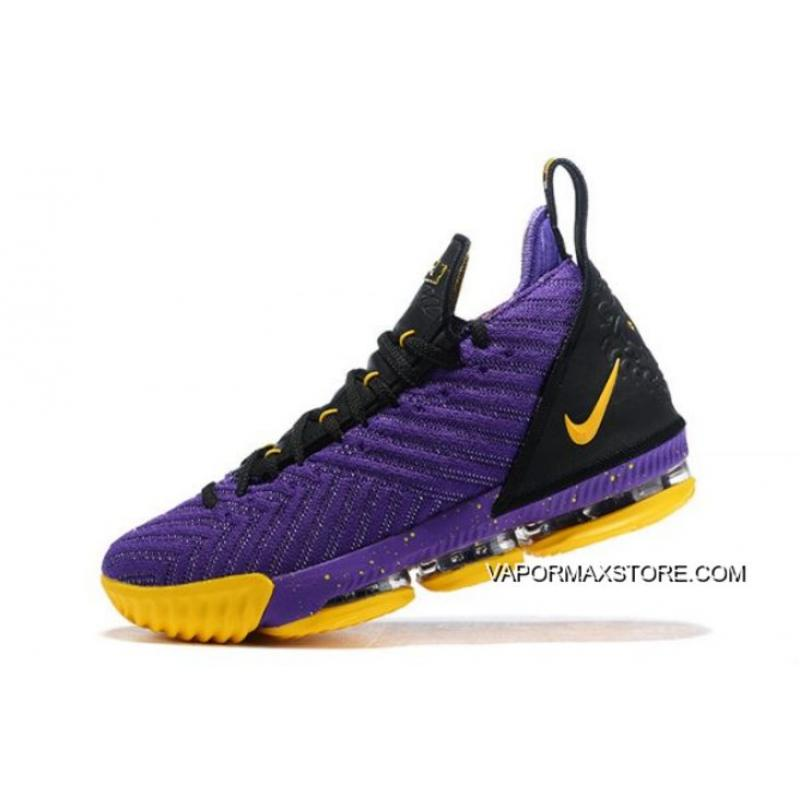 "cheap for discount c3734 c0e16 Nike LeBron 16 ""Lakers"" Purple/Black-Yellow Shoes Best"