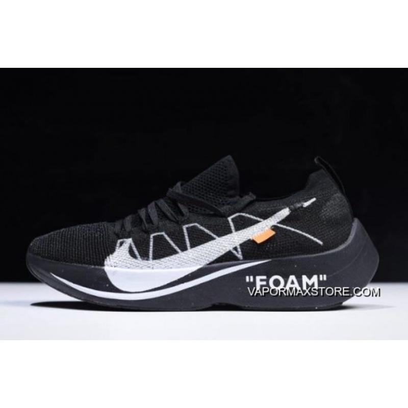 f00ef008e5980 Women Men Off-White X Nike Vapor Street Flyknit Black Anthracite-White ...