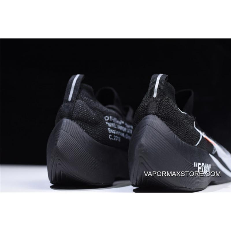 1d70a00ac1565 ... Women Men Off-White X Nike Vapor Street Flyknit Black Anthracite-White  ...