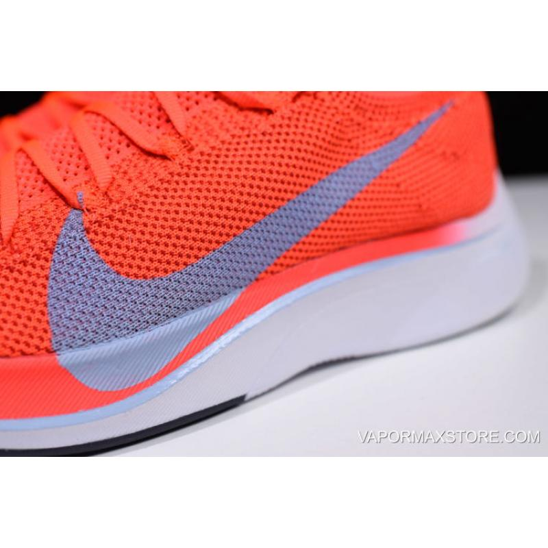 08ff231a1bc ... Women Men Nike Zoom VaporFly 4% Flyknit Bright Crimson Ice Blue AJ3857-  ...