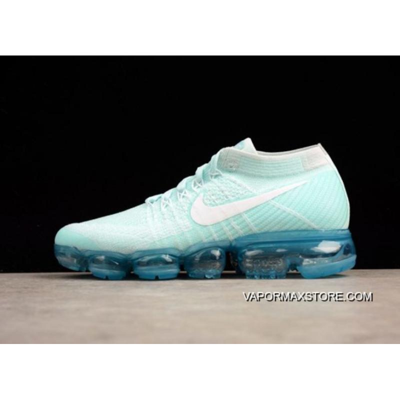 0a0f681078ac Nike Air VaporMax Glacier Blue And White-Pure Platinum Outlet ...