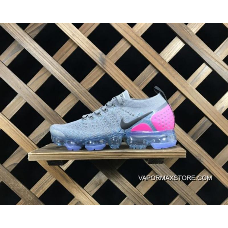 low priced 9357f 69e85 Nike Air VaporMax Flyknit 2.0 Gunsmoke Blue Orbit Pink Blast Top Deals
