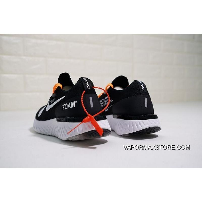 ab0177e5c ... Authentic Men OFF-WHITE X Nike Epic React Flyknit Running Shoe  SKU 35228- ...