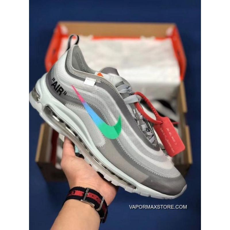 competitive price 3a682 a8356 Men OFF-WHITE X Nike Air Max 97 Menta Running Shoe SKU:99015-368 New Year  Deals