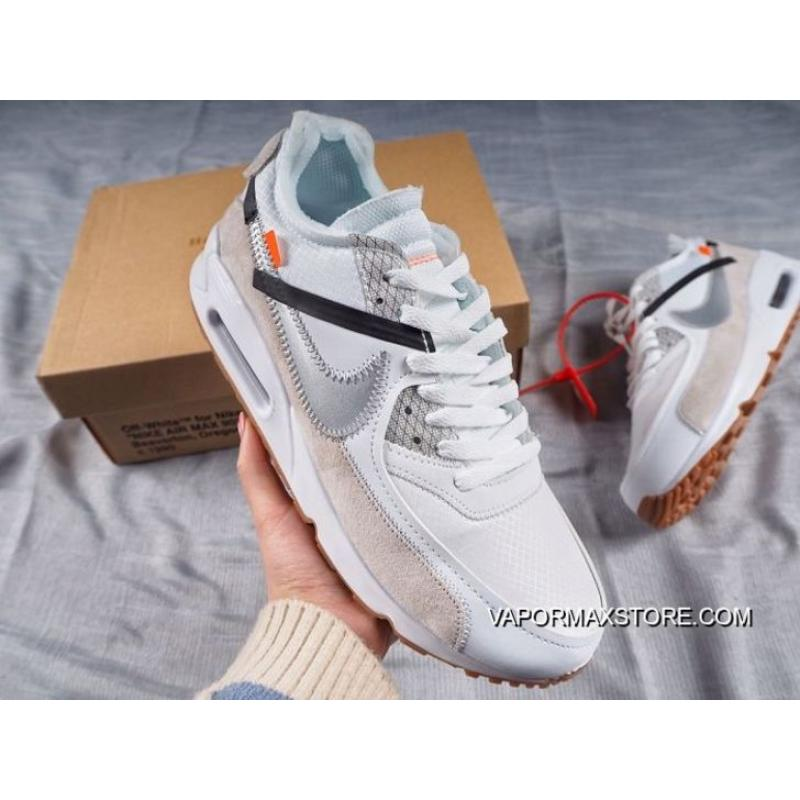 the best attitude 9e55f 82428 Men Nike Air Max 90 X OFF-WHITE Running Shoes SKU:172191-493 Authentic