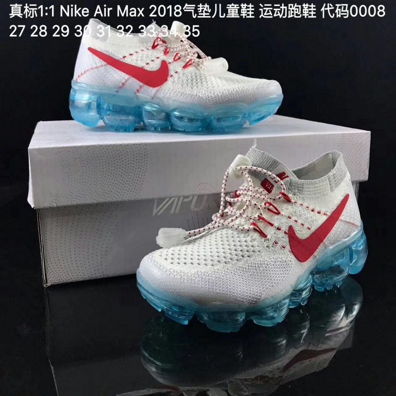 new style bb125 0ace6 Kids Nike Air VaporMax 2018 Flyknit Running Shoe SKU:46784-223 Outlet