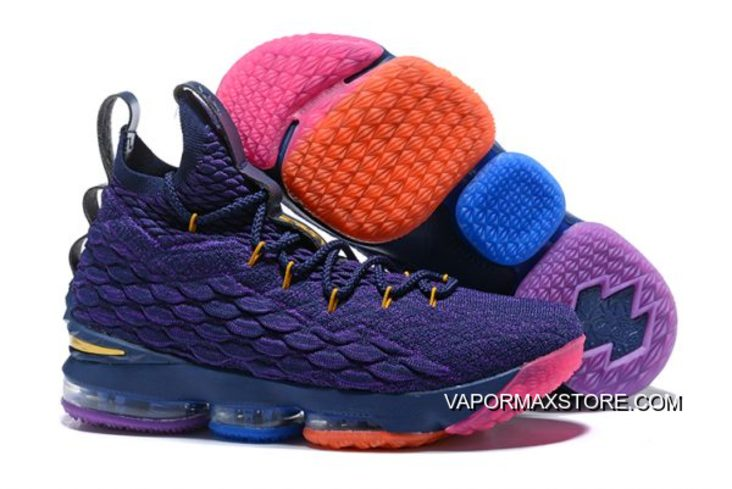 hot sale online 1d40c c341c New Release Nike LeBron 15 Purple Rainbow