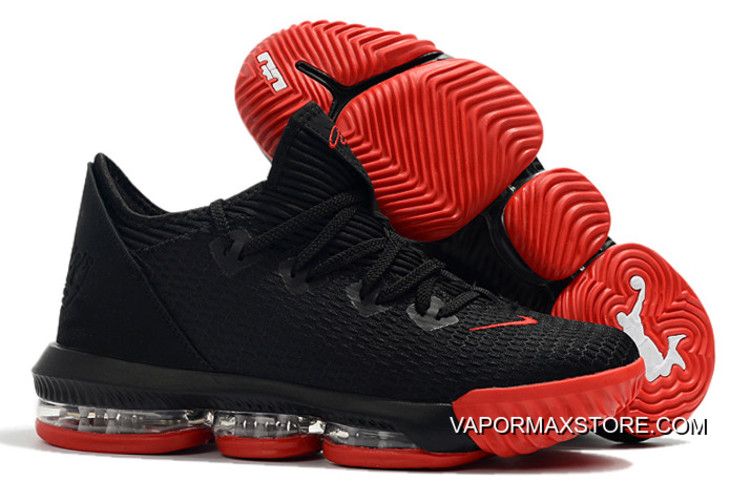 competitive price 79a95 c4c42 New Release Nike LeBron 16 Low Black/Red