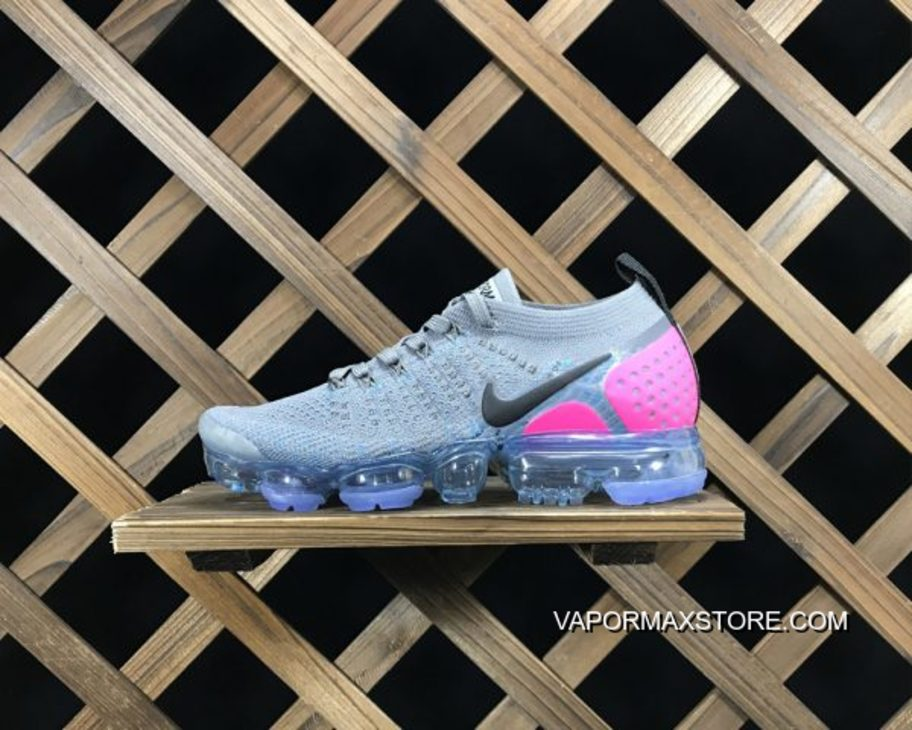 50c97ea9aed1 Nike Air VaporMax Flyknit 2.0 Gunsmoke Blue Orbit Pink Blast Top Deals